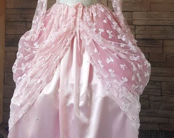 Princess gown  /pink princess dress for girls 10 to 14 years / Halloween costume/ petite women princess gown/fairy