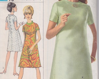 Vintage 1960s misses' dress pattern -- Simplicity 6968 size 12