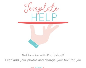 Template Help Add-On | Photoshop Template Customization | Image Placement and text added