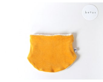 organic cotton kids scarf mustard yellow