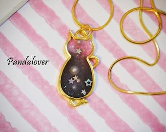 Galaxy Necklace Kitty