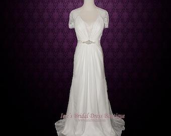 Dantelle Wedding Dress Vintage Style Wedding Dress Lace Wedding Dress Chiffon Wedding Dress Silk Wedding Dress