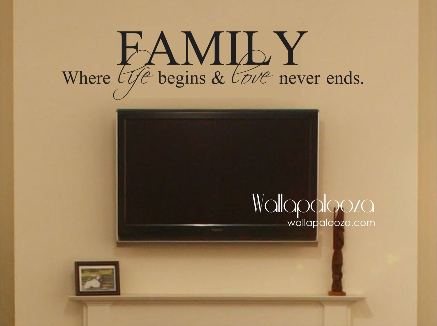 Family Wall Decor Family Where Life Begins And Love Never Ends Family Wall Decal