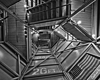 Going Up? / Black & White Print Harbourtown Lighthouse Hilton Head South Carolina Nautical