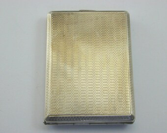 1930 silver card case 43.3g 63.1mm by 45.5mm Art Deco