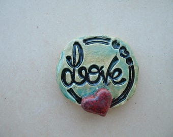 cabochon 45mm ceramic glazed for your creations