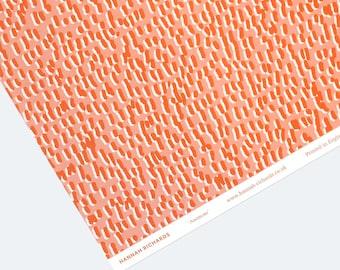 Anemone Wrapping Paper - Orange