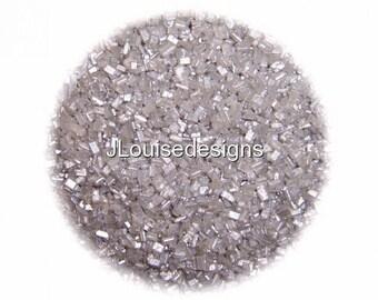 Silver Sugar Crystals, Edible Sprinkles Cake Confetti Cake Pop Cookie Decorations 2 oz.