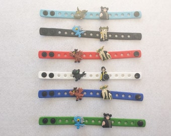 10 Dragons Silicone Bracelets Party Favors
