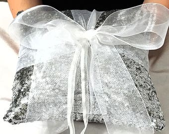 Wedding Sequin Ring Bearer Pillow, Choose Your Color, Ring Bearer Pillow, Wedding Pillow, Sequin Pillow, Sequin, Wedding Ring, Wedding Band