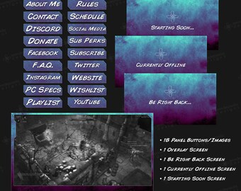Shades - Blue Magenta - Twitch Overlay Pack