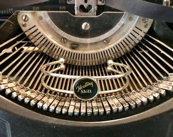 Vintage Typewriter Key Bracelet Adjustable