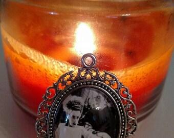 Frankenstein And His Bride Vintage Halloween Necklace
