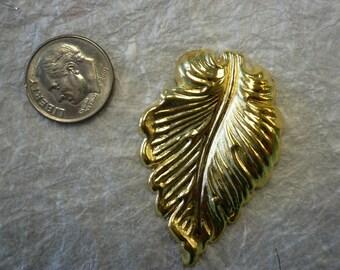 Vintage Brass Stamping Leaf (3)