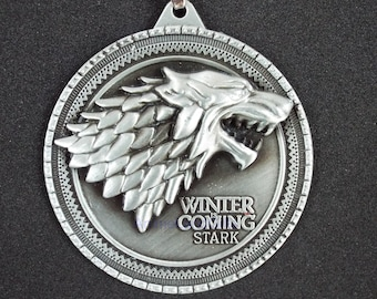Game of Thrones Winter is coming Stark Pendant necklace gift idea