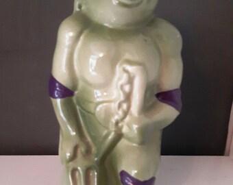 Vintage Teenage Mutant Ninja Turtles Donatello ceramic money box