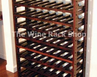 Wood Wine Rack - Storage For 72 Bottles, 4 Feet Tall