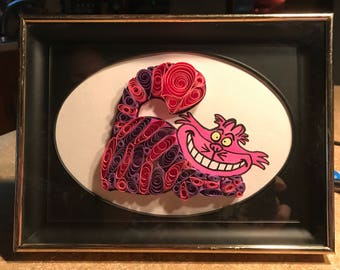 Disney's Cheshire Cat, paper quilled
