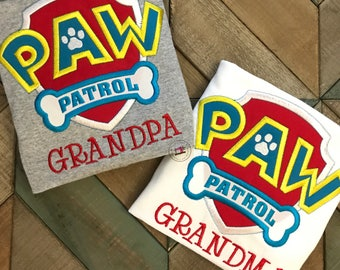 Paw Patrol Inspired Shirt for kids or adults