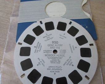 Vintage, Antique Viewmast reel - 950 - Gene Autry and his wonder horse Champion - No longer produced - from collection of over 100 reels.
