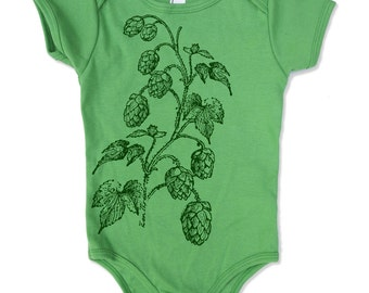 Baby One-Piece HOPS  Eco screen printed (+ Color Options) - FREE Shipping