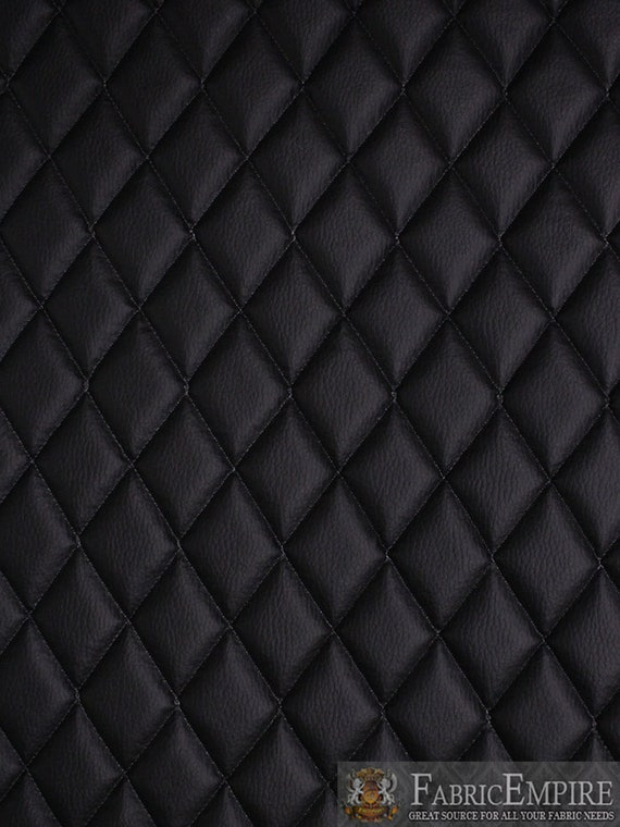 Black Quilted Wallpaper Vinyl Grain Texture Qu...