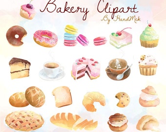 Bakery Clipart , Cupcakes Clipart ,Sweets Dessert Clipart  Instant Download PNG file - 300 dpi