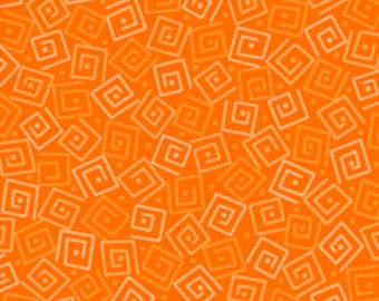 Harmony Blender Fabric - Squares by Quilting Treasures 24779 O Carrot - Priced by the 1/2 yard