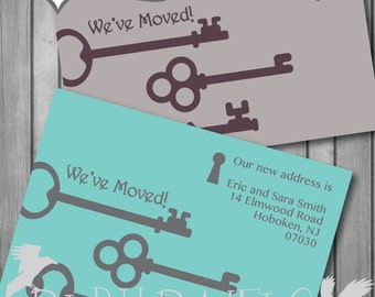 Moving Cards, Change of Address, New Address Cards, printable, Personalized 5x7 or 4x6