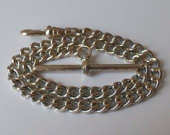 Silver Plated Albert Pocket Watch Chain.
