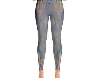 Nouveau + Yoga Leggings + by Phantom Rae Designs / Women's made in USA high quality workout pants / modern design / Art Deco