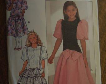 Butterick 4530, sizes 7-10, girl's dress, UNCUT sewing pattern, craft supplies