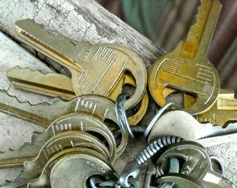 vintage  keys small quantity 3  keys  steampunk