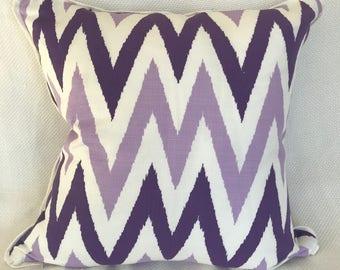 Quadrillion's purple zig zag Pillow