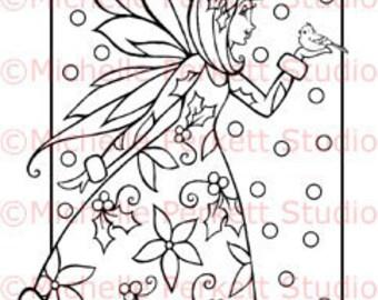 Digital Stamp - Chrissy the Christmas Spirit Fairy