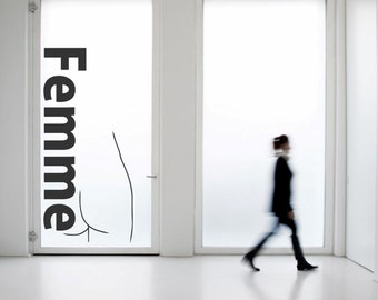 Femme Fatale and Picasso minimal drwing vinyl wall decal for your personal room decoration (ID: 131022)