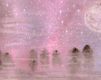 Illustration (Print) - Purple sky