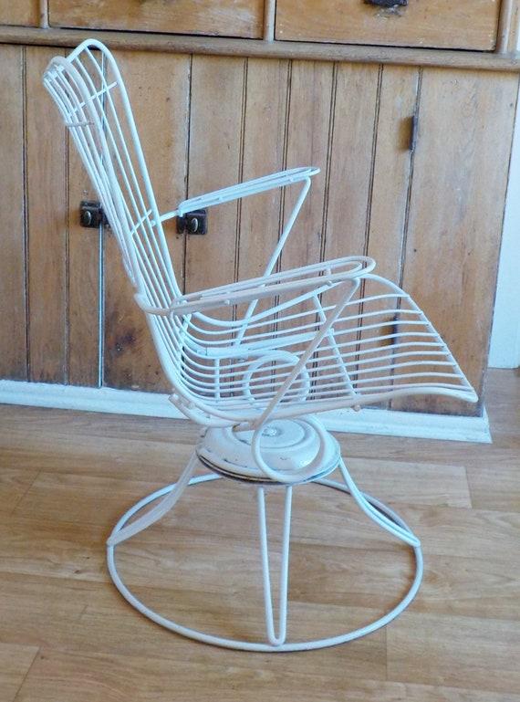 Vintage Homecrest Lawn Chair Mid Century Patio Wire Swivel