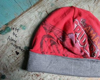Amazing Spiderman Slouchy Hat Beanie Baggy Hat Slouch Beanie Hipster Beanie Oversized Beanie Slouchy Beanie Boho Beanie Knit Slouchy Ha