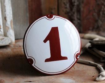 "Enamel House Number 4.9"""