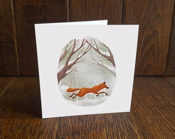 Fox Christmas Greeting Card