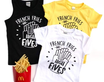 French Fries and High Fives - French Fry - French Fry Shirt - French Fries Shirt - Fry Day - I Speak French Fries - Fries Before Guys
