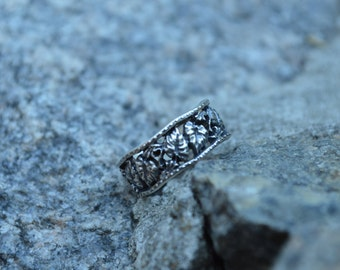 leafs sterling silver rings, silver ring 925