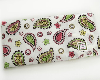 Heating Pad (Microwavable)- Colorful Paisley // Buckwheat and Rice Heating Pad // Cold Pack // Heat Pack // Removable Cover
