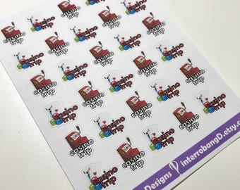 A06 - Casino - Planner Stickers