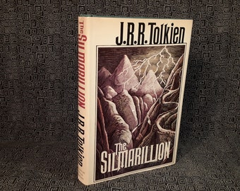 First Edition J.R.R. TOLKIEN The SILMARILLION Hardcover Book 1stPrinting Middle Earth Epic History of Elves from Lord Of The Rings Lotr