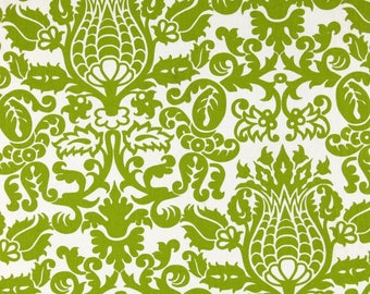 Handmade Table Runner 13W x 36L in Lime Green Chartreuse Amsterdam Print Home Decor Ready To Ship