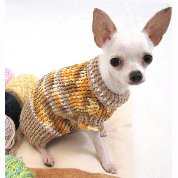 rustic cotton dog sweater chihuahua puppy clothes teacup