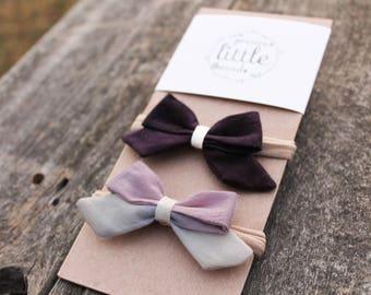 Botanically colored/ naturally dyed/ bow/ headband