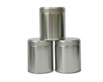 3 pcs, Wide Tea Tin Containers with Twistlug Lids
